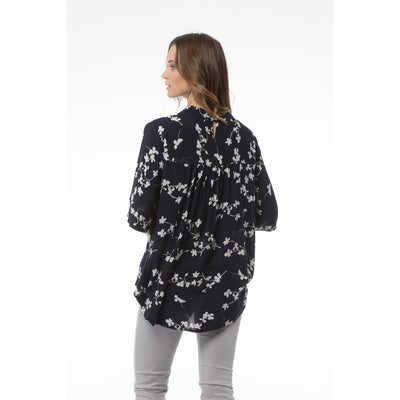 Kaja Cathryn Top in Navy Print