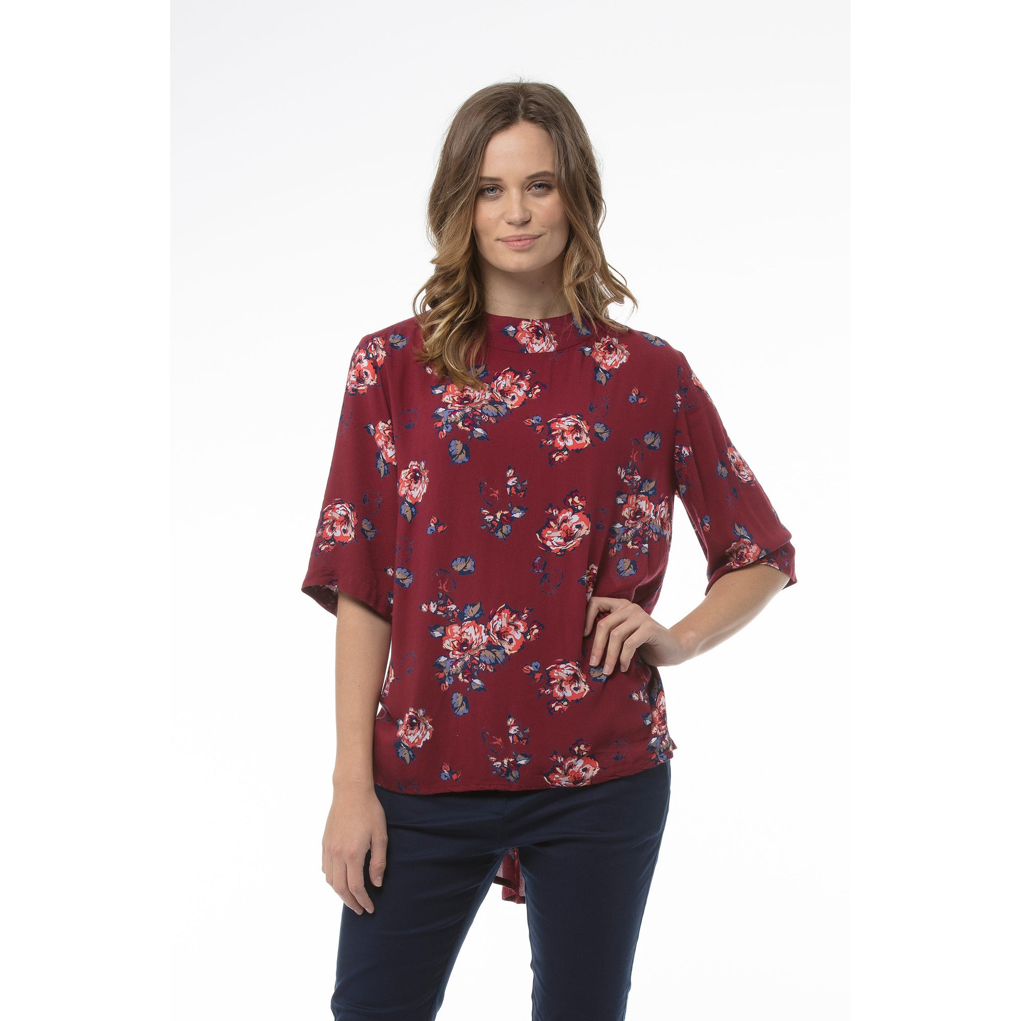 Kaja Cathryn Top in Red Print