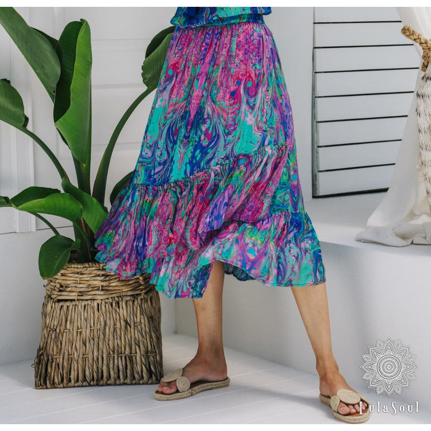 Lula Soul Celeste Skirt in Sea