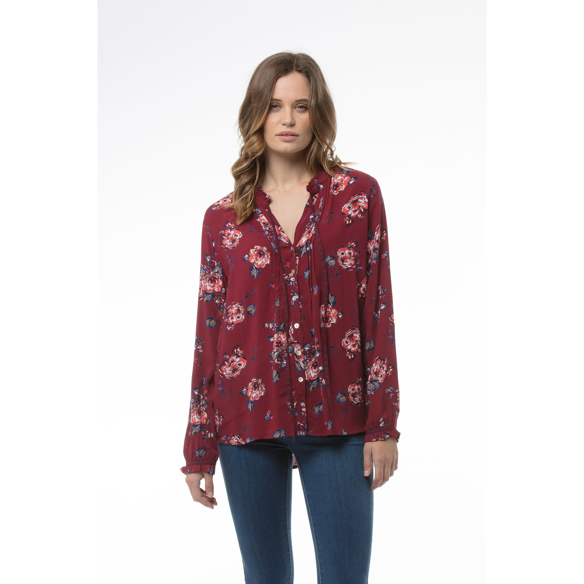 Kaja Chelsea Top in Red Print