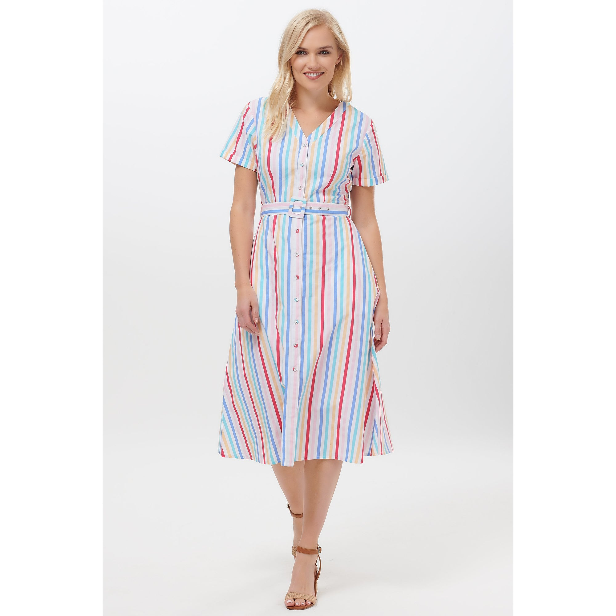 Sugarhill Brighton Cassidy Candy Stripe Dress