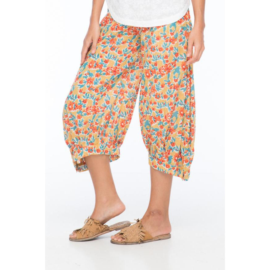 Boom Shankar Guru Pants in Sweet-pea Block Print