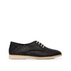 Rollie Derby Punch Black Leather Shoe
