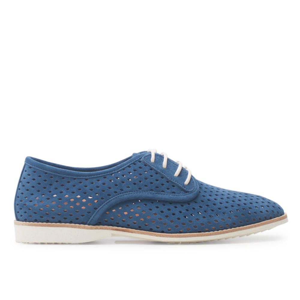 Rollie Derby Punch Navy Suede Shoe