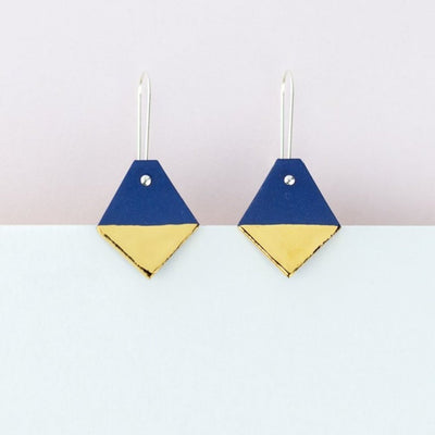Erin Lightfoot Diamond Earrings in Blue