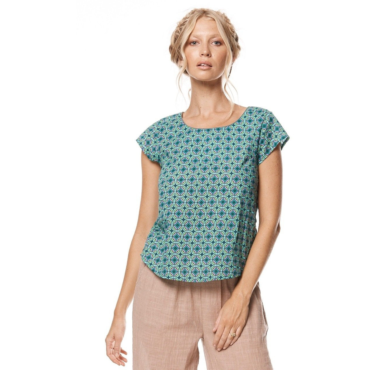 MahaShe Remi Top in Kaleido Teal