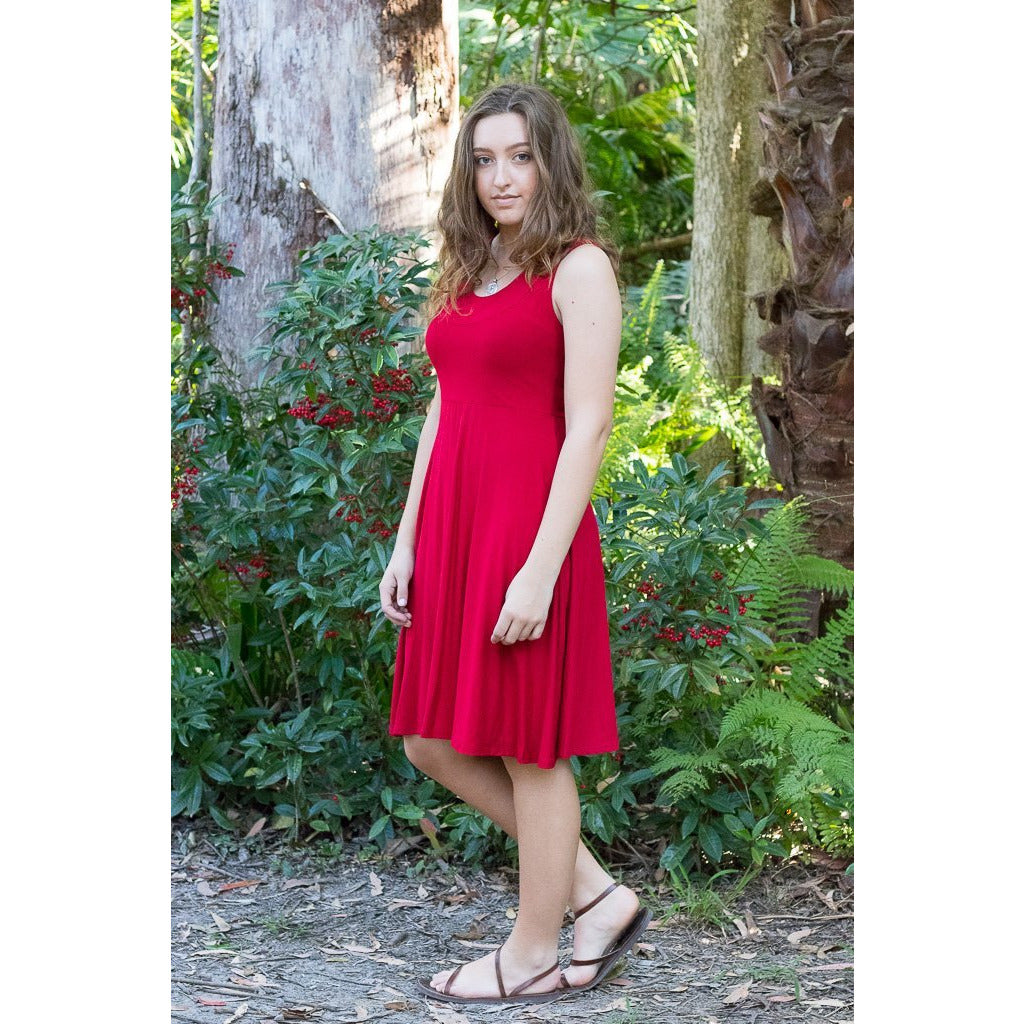 Soulsong Elegant Dress in Red