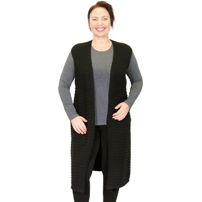 MS DIVINE Everly Black Knit Vest