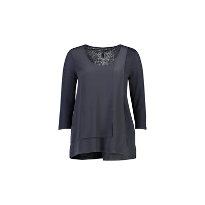 Foil Mind The Gap Silk Top