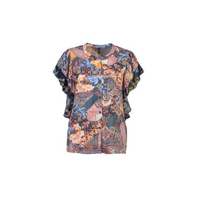 Foil Light Relief Blouse in Paisley Mix