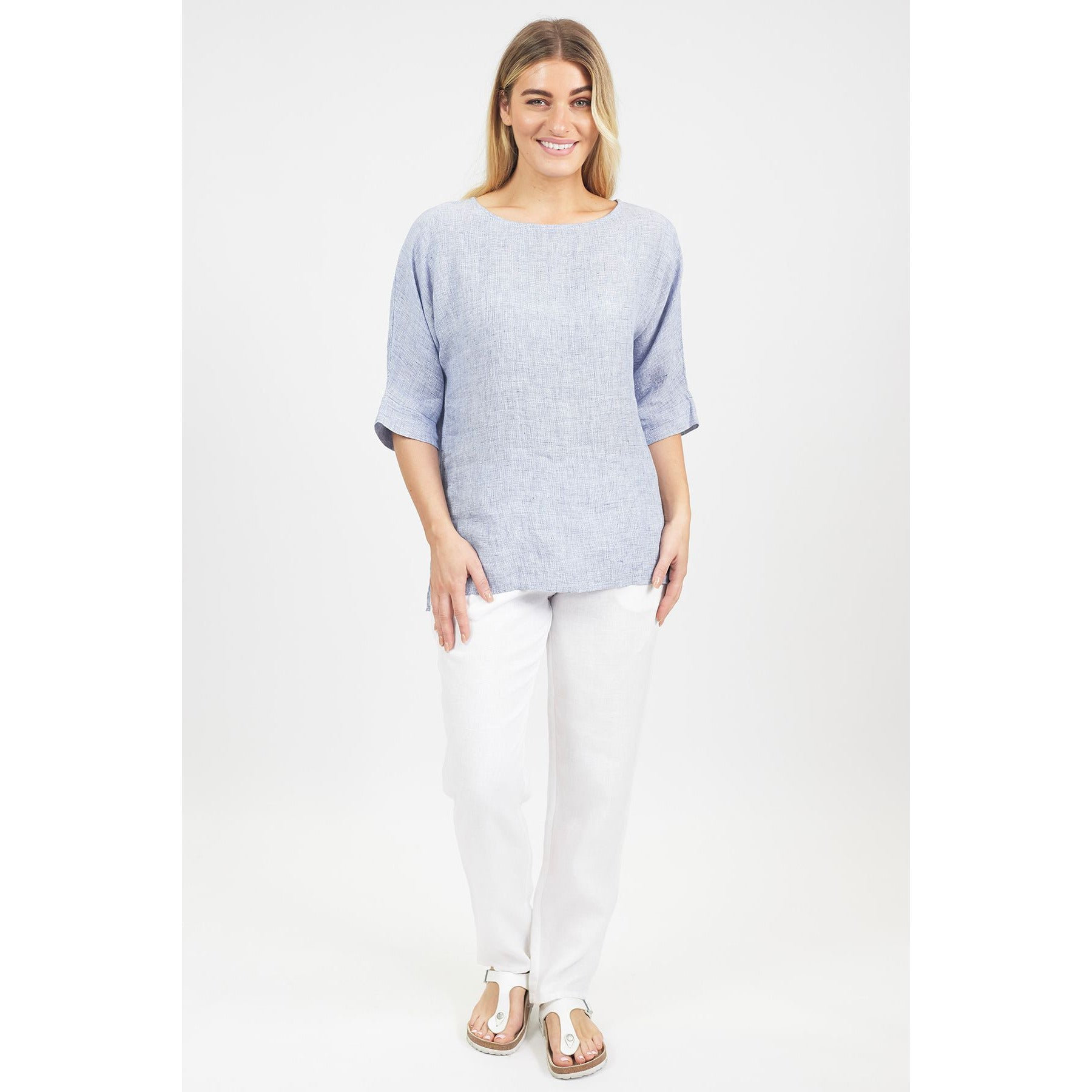 Naturals by O & J Houndstooth Drop Sleeve Top