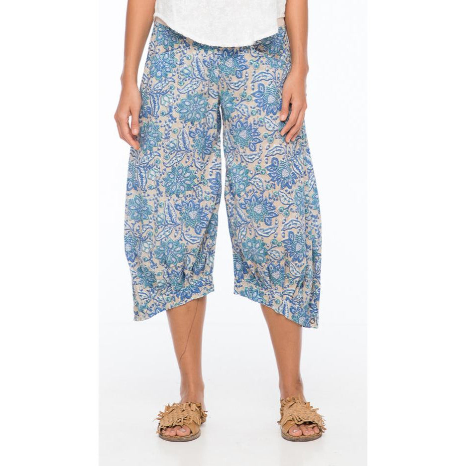 Boom Shankar Guru Pants in Bluebell Block Print