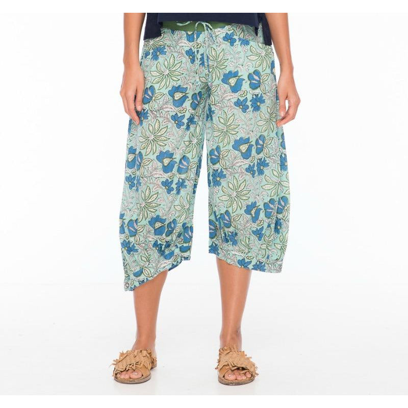 Boom Shankar Guru Pants in Mint Block Print