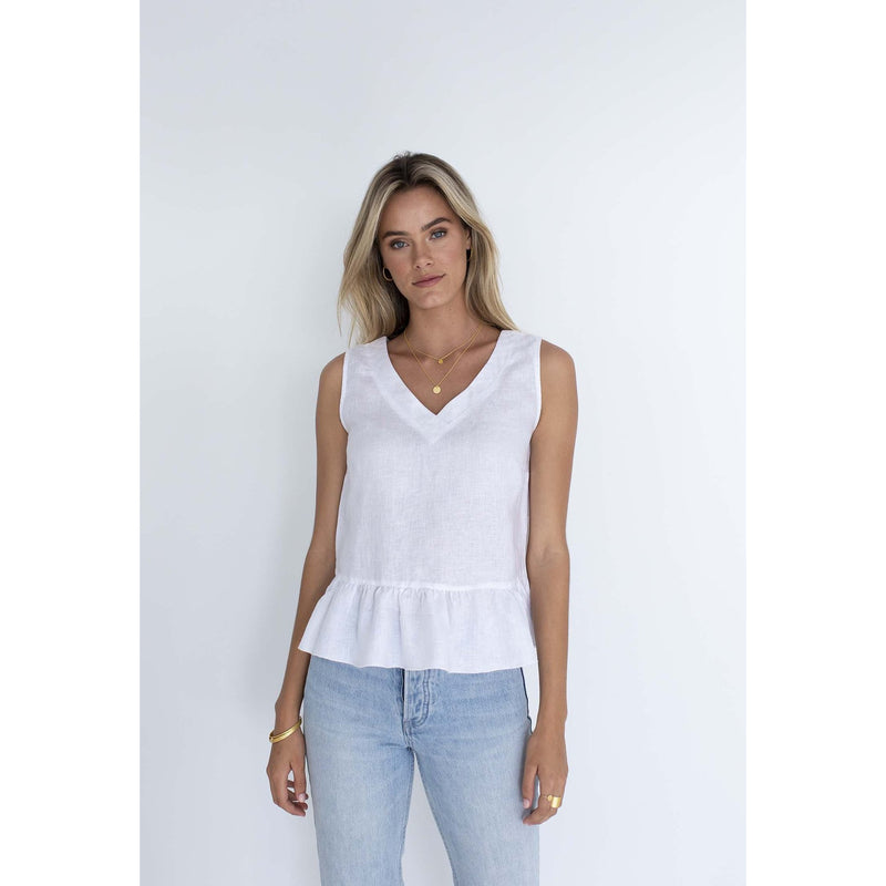 Humidity Olivia top in White