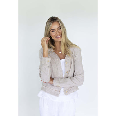 Humidity Isabelle Linen Jacket