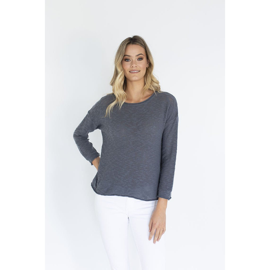Humidity Sophia Sweater in Graphite Grey