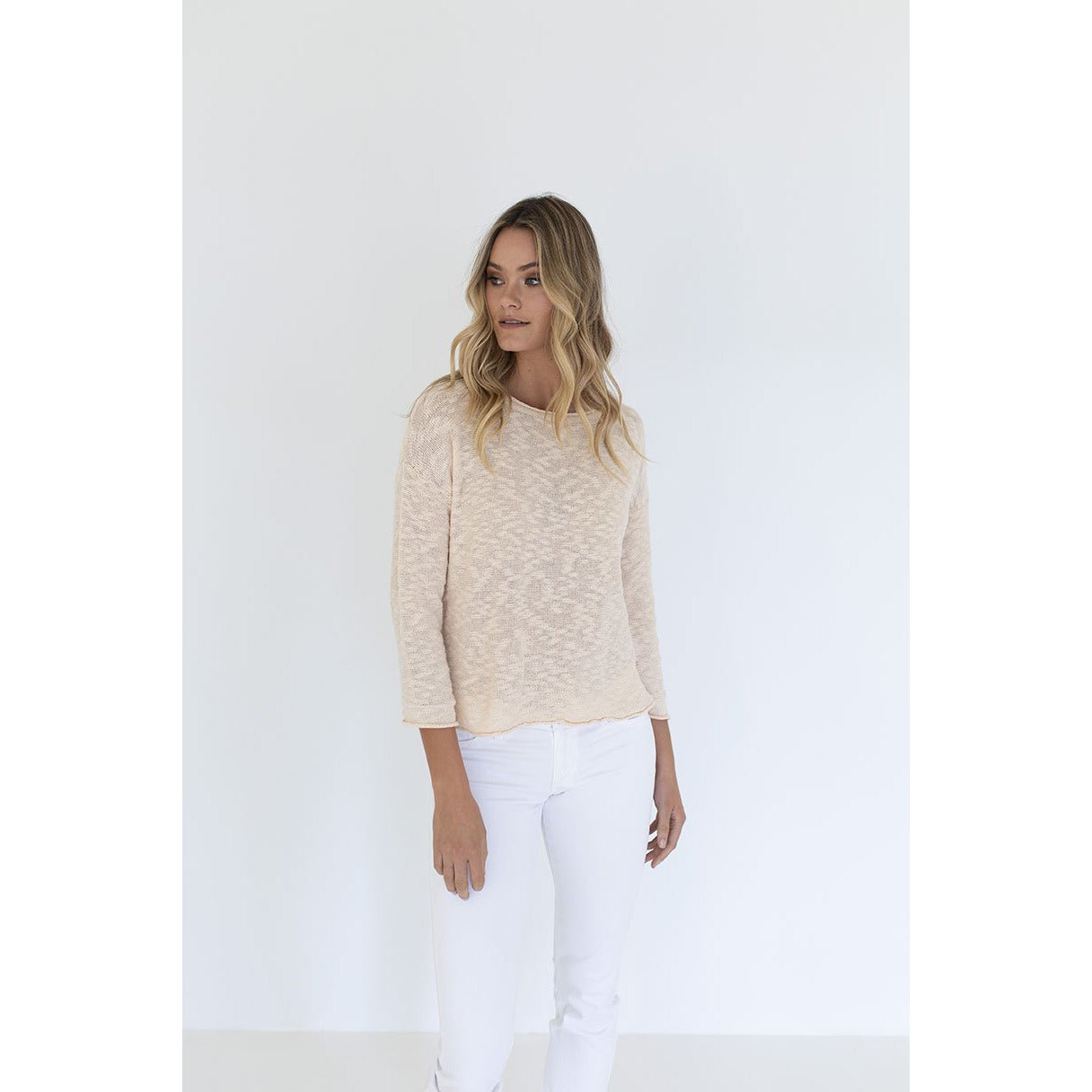 Humidity Sophia Sweater Clotted Cream