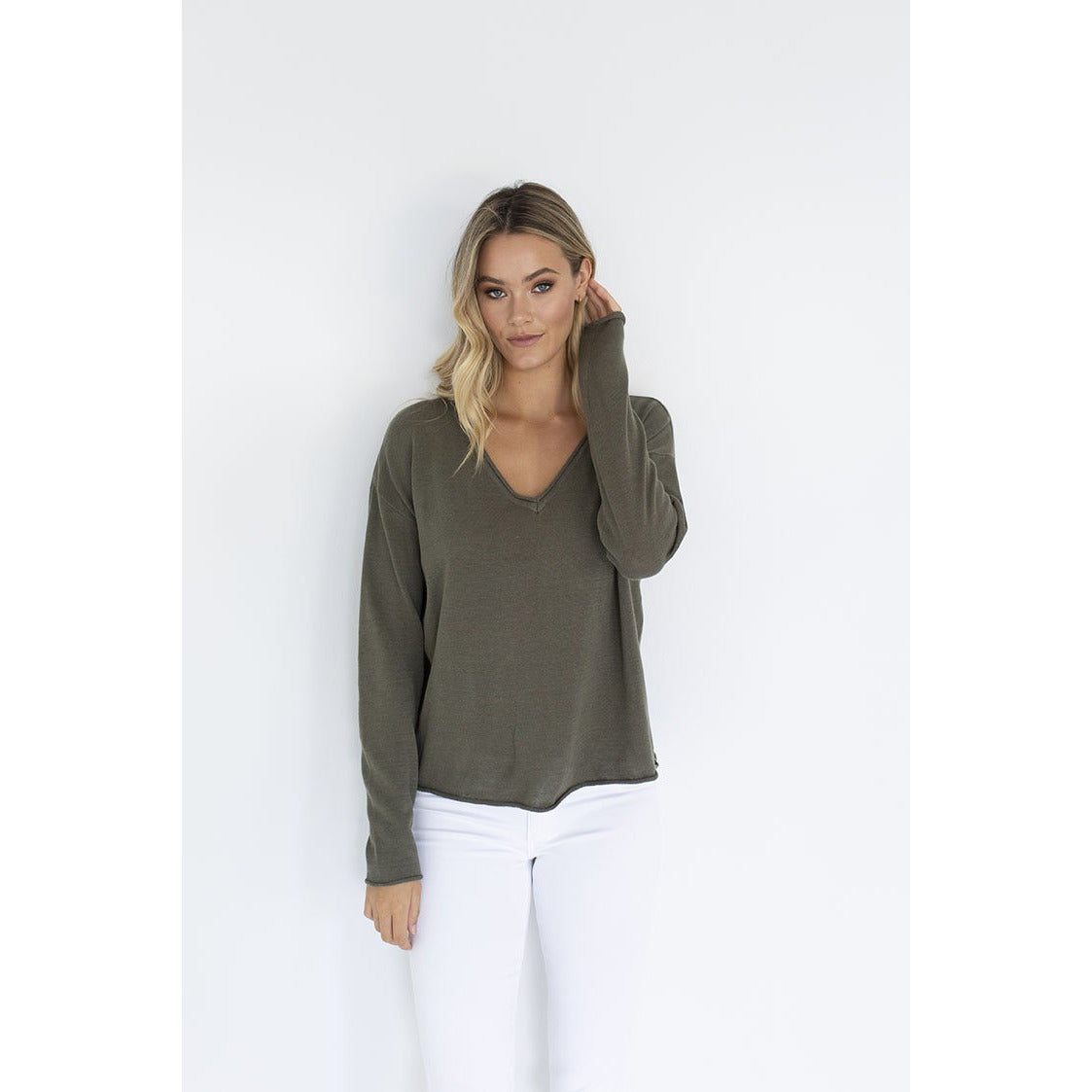 Humidity Haven Top in Khaki