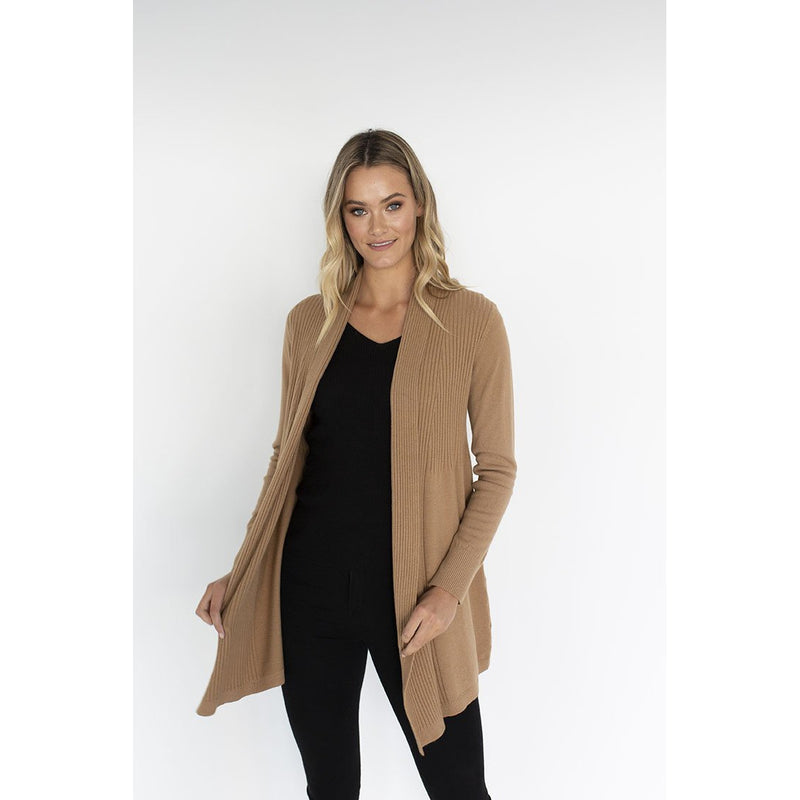 Humidity Adore Cardigan in Camel