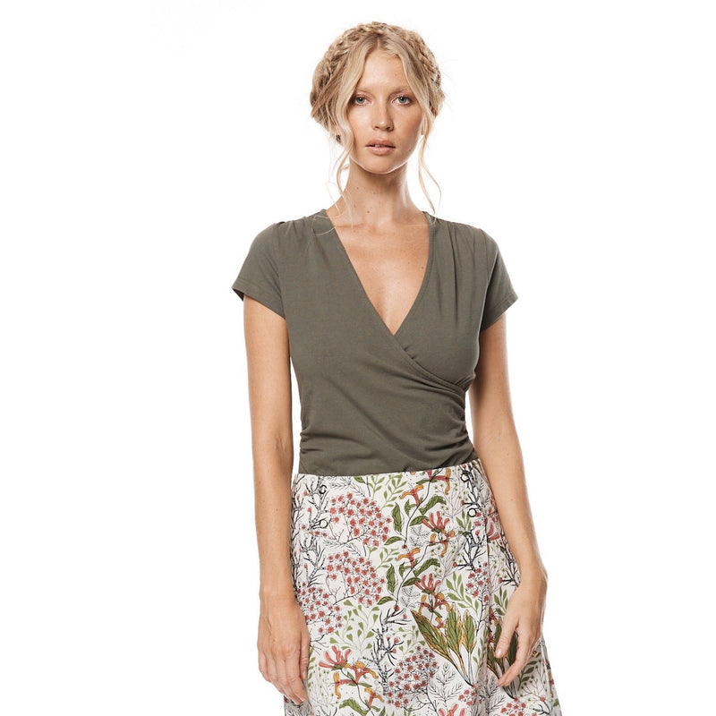 MahaShe Hayley Top in Sage Plain