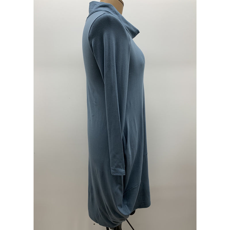 Vivid Knit Soft collar Drape Dress in Sage
