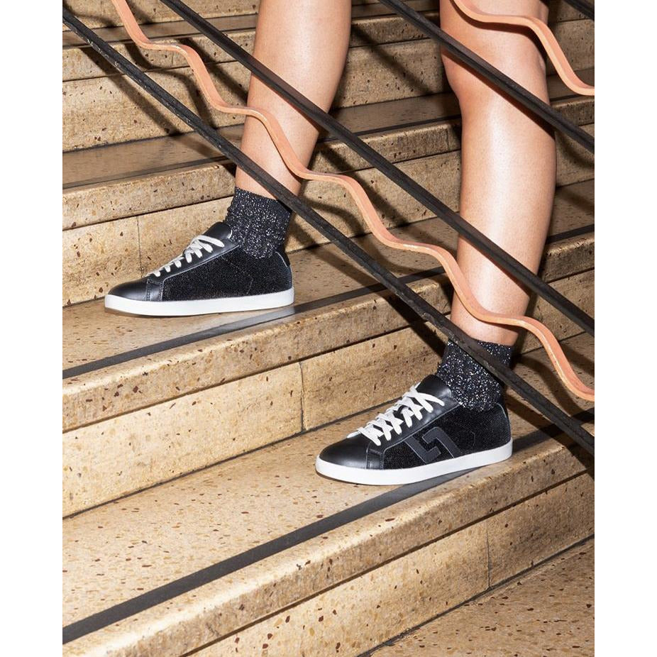 Rollie Prime Black Sequin Sneaker