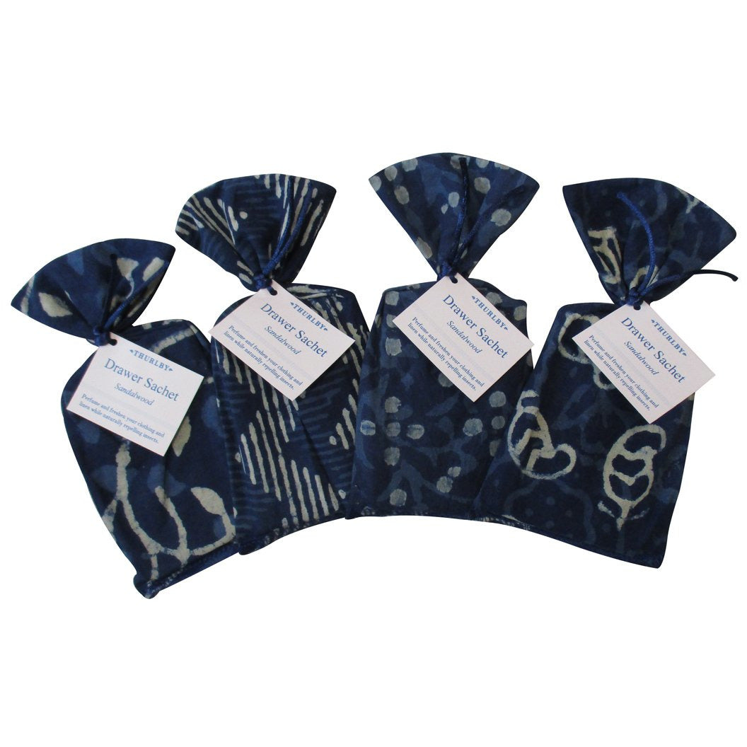 Thurlby Herb Farm Indigo Drawer Sachet Sandalwood