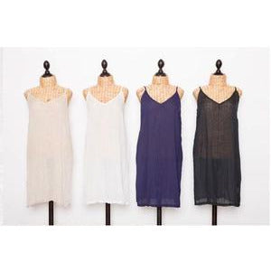 Lula Soul Ibiza Cotton Slip in Ecru