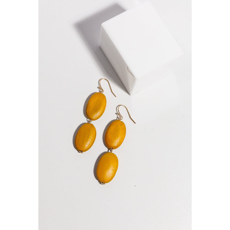 Holiday Harlow Earrings in Mustard