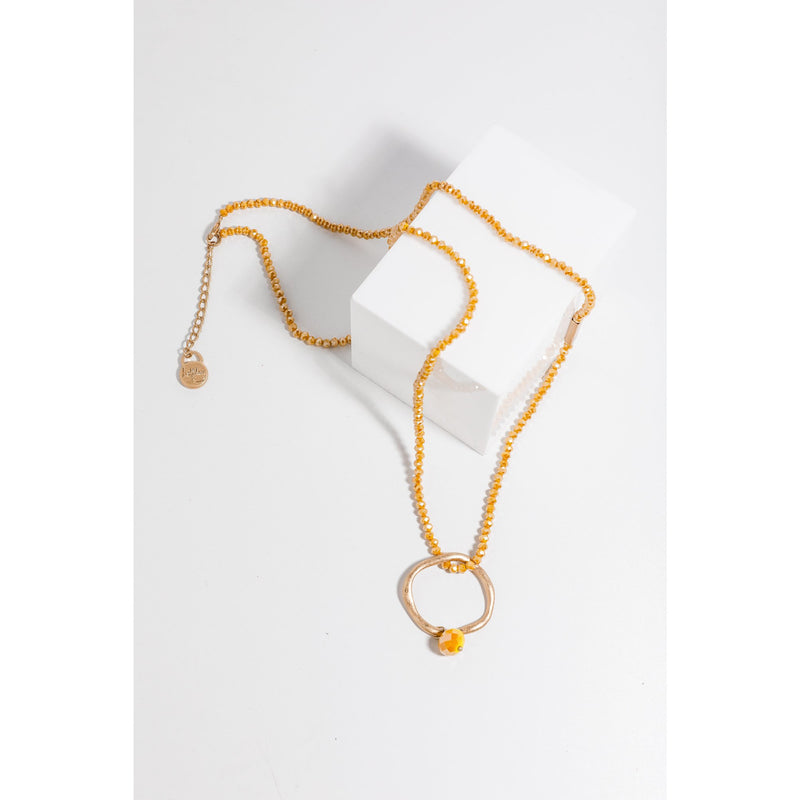 Holiday Destiny Ring Necklace in Mustard