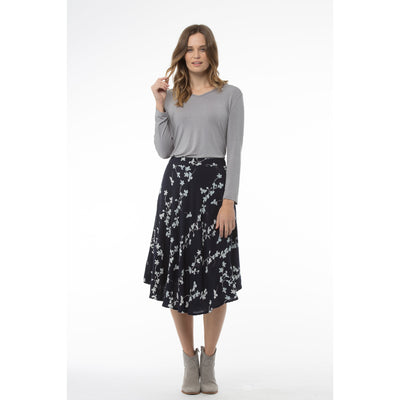 Kaja Joan Skirt in Navy Print