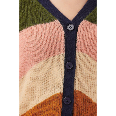 Sugarhill Brighton Tameka Block Stripe Cardigan in Multi