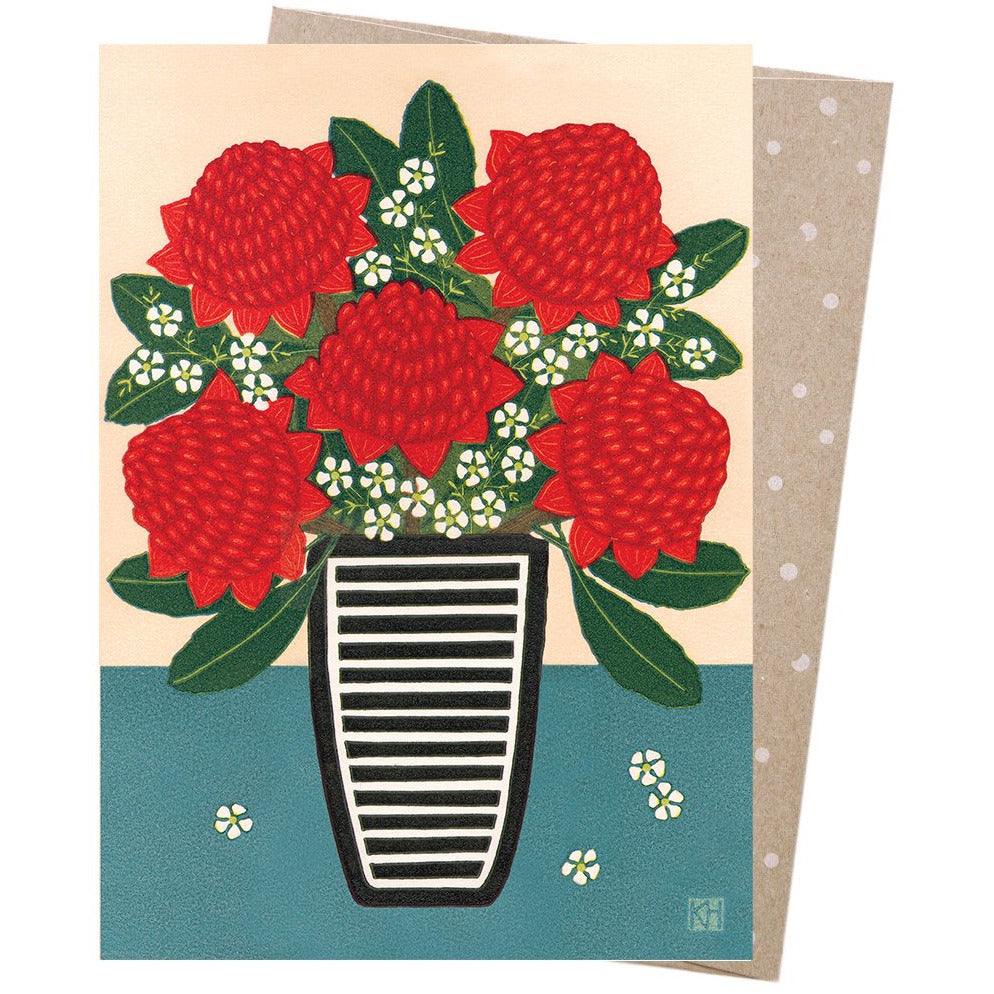 Earth Greetings Card Waratah & Teatree