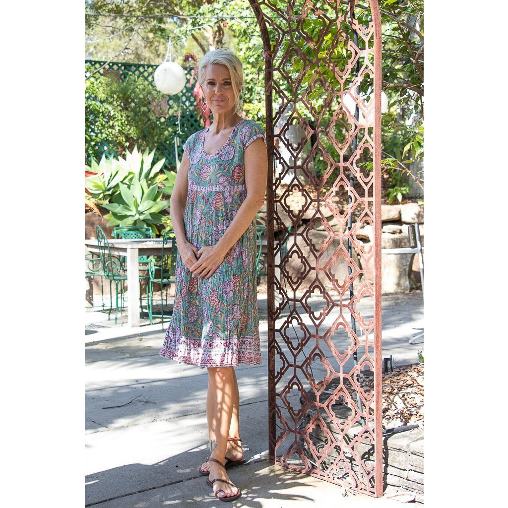Soulsong Kamala Dress in Vintage Sage