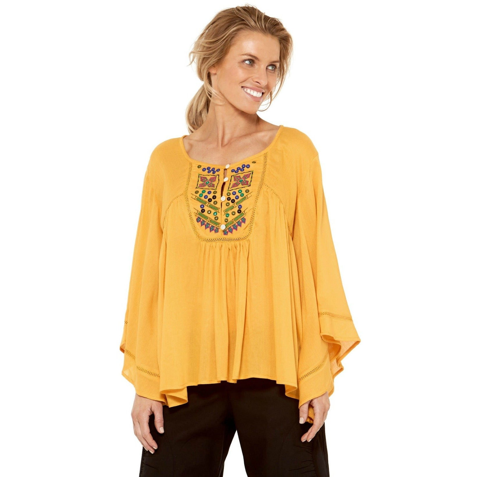 Rasaleela Sidney Top L114 in Mustard