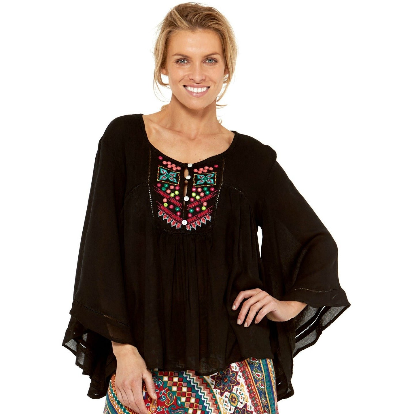 Rasaleela Sidney Top L114 in Black