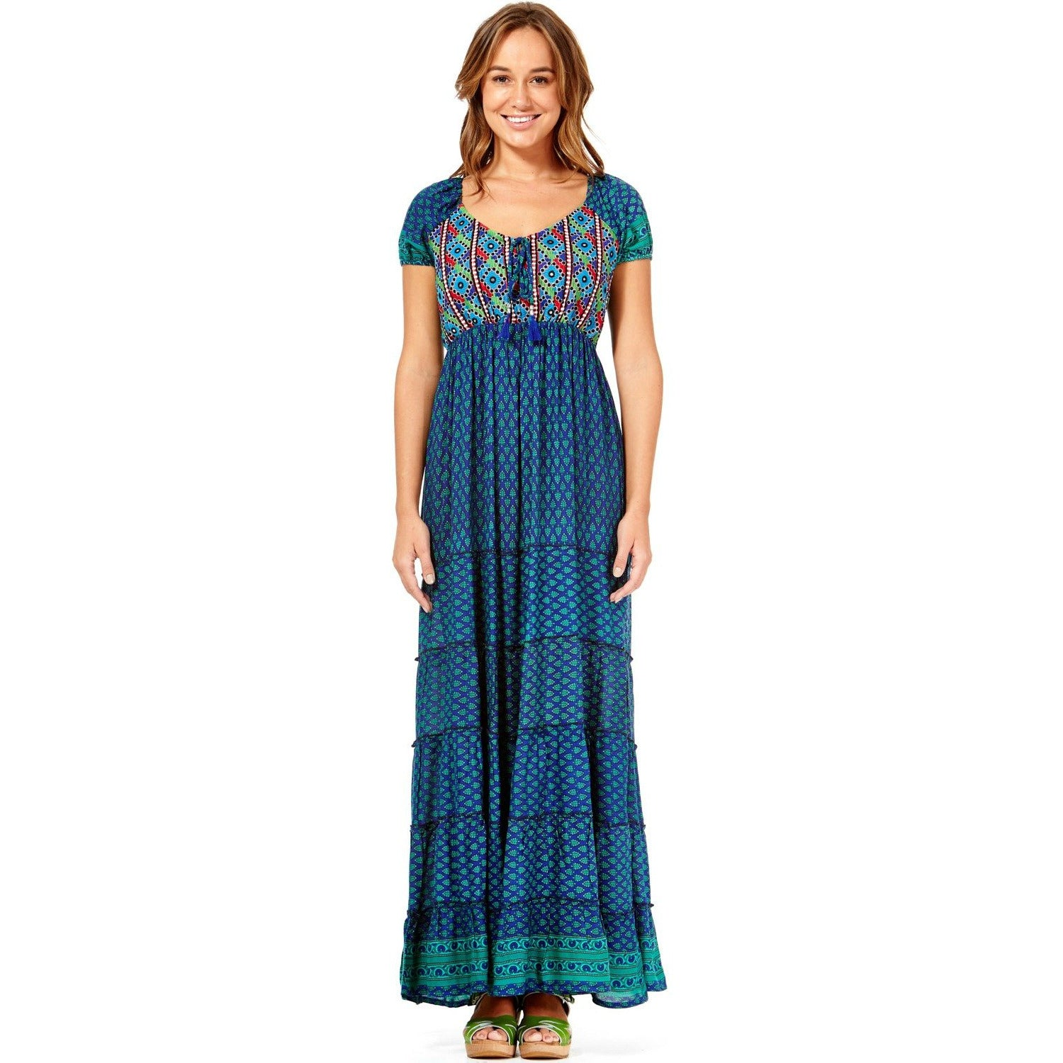 Rasaleela Eleanor Embroidered rayon dress L80