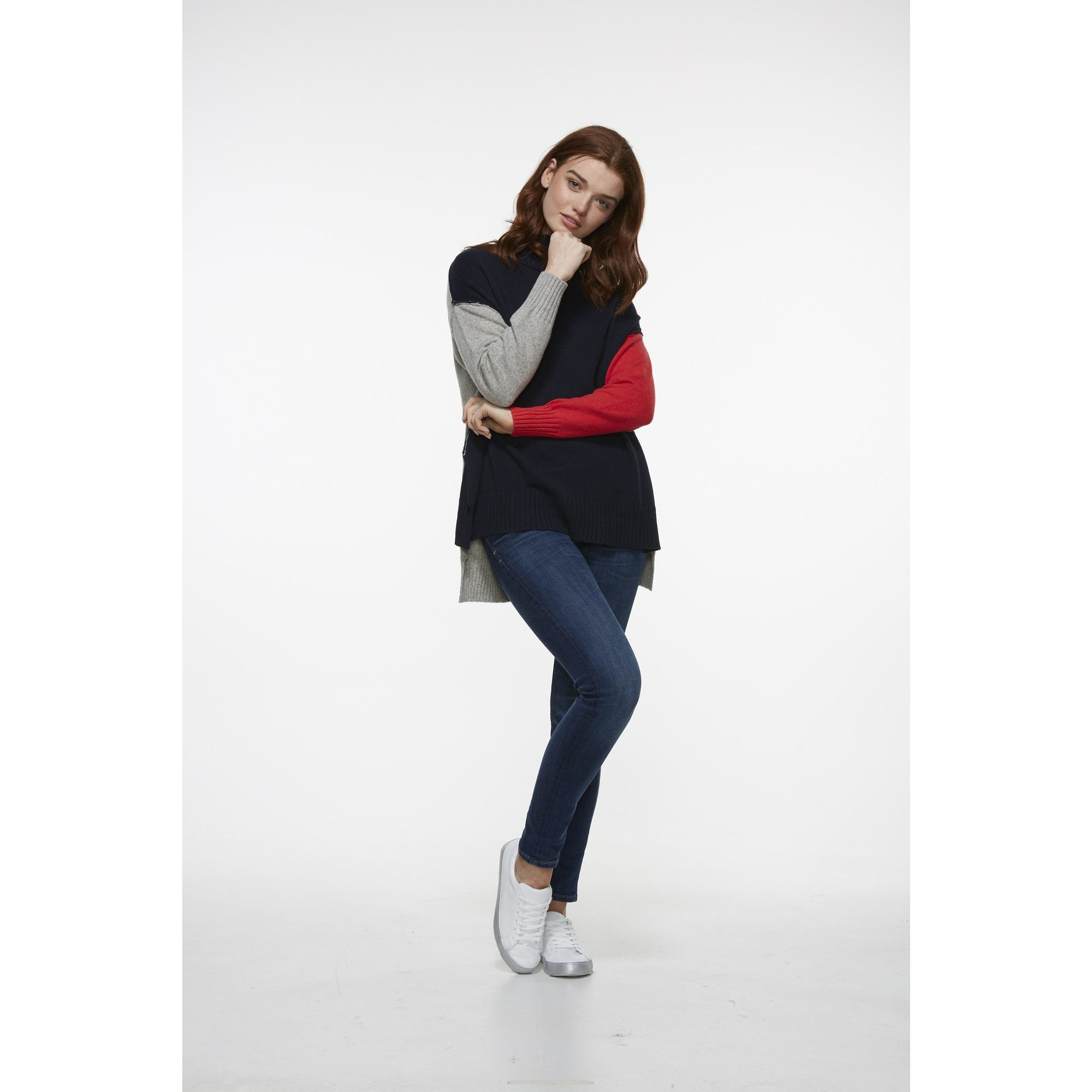 LD&CO Three Colour Pullover in Navy Combo