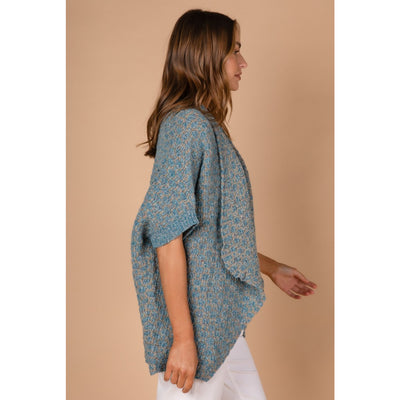 LD&CO Pebble Fleck shrug in Walnut Mix
