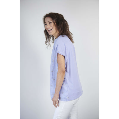 Love From Italy Galaxy Star Top in Lilac