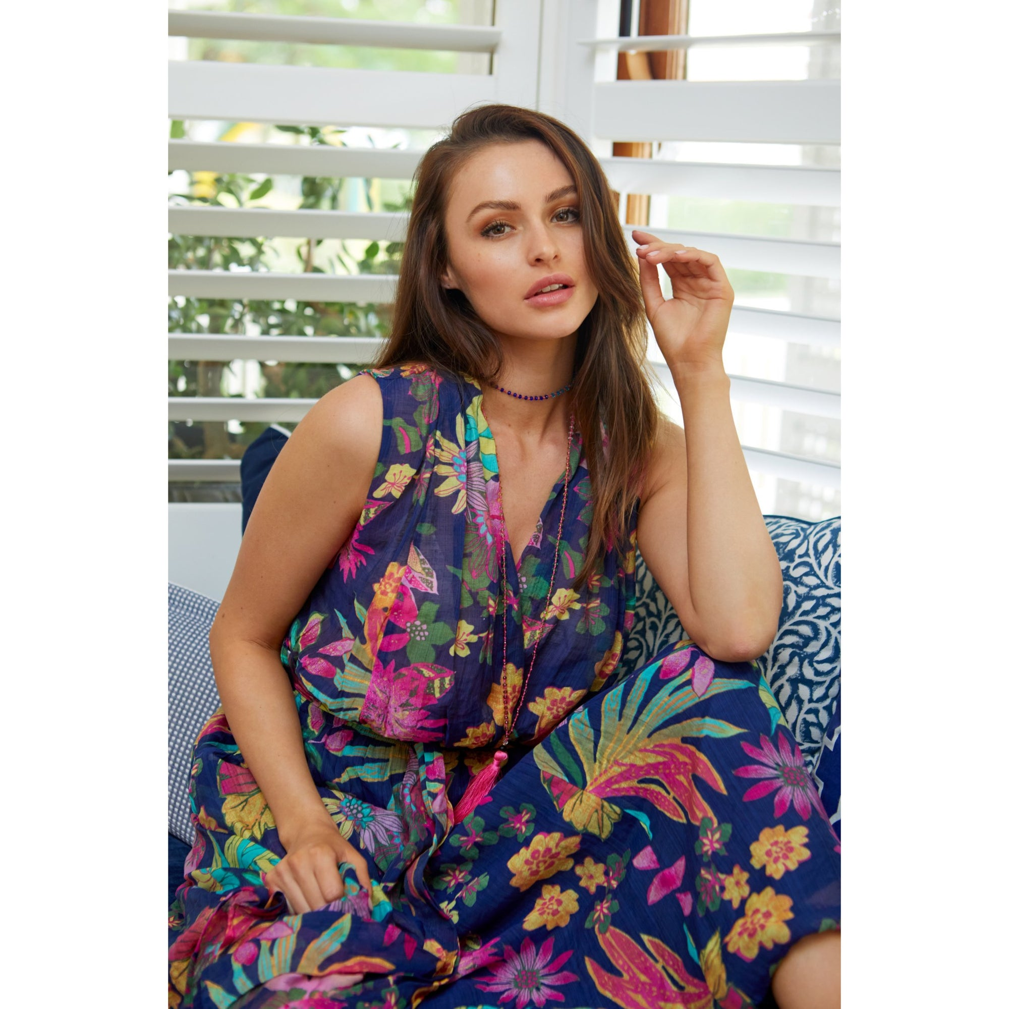Lula Soul Gardenia Dress in Navy