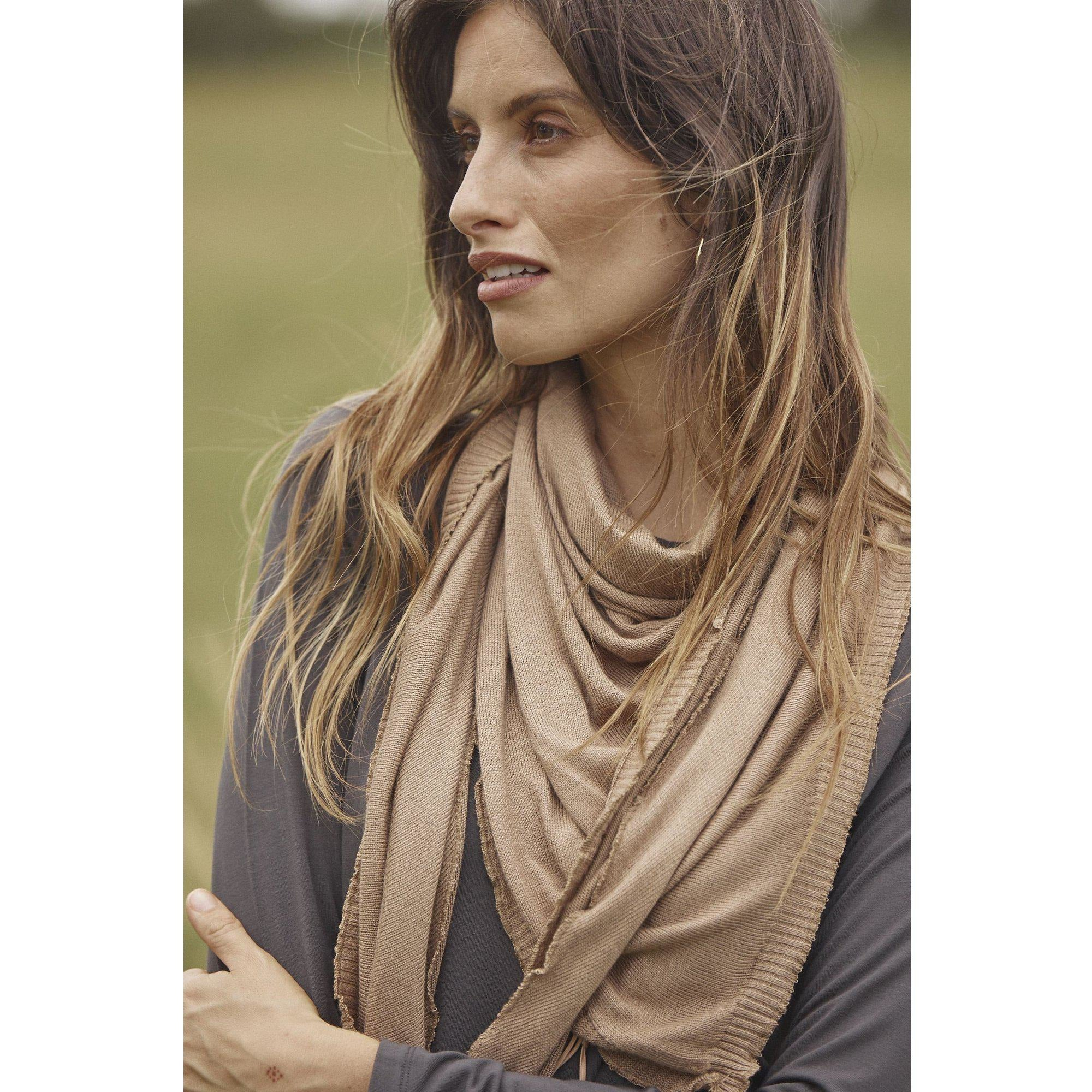 Lou Lou Australia Bamboo The Sassoon Scarf in Nougat