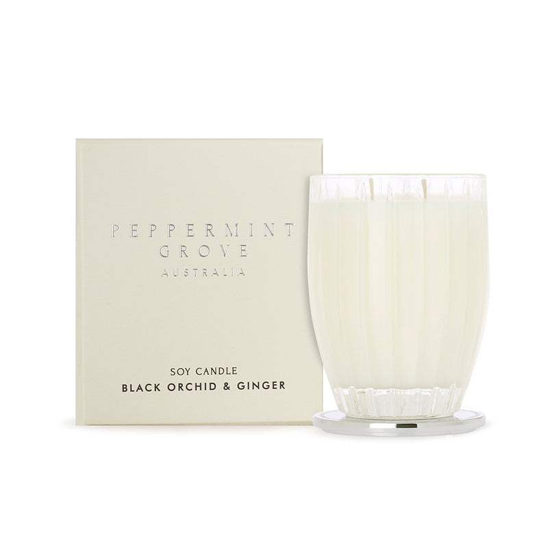 Peppermint Grove Black Orchid & Ginger Large Candle