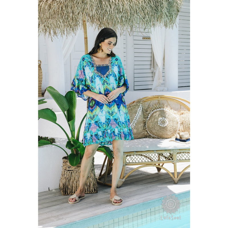 Lula Soul Lena Dress in Ocean