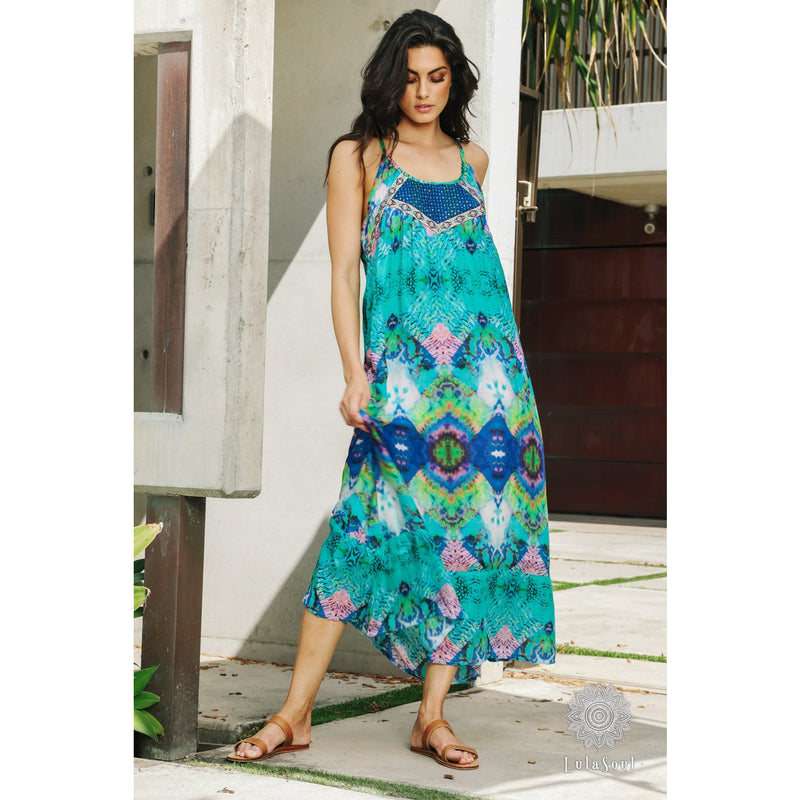 Lula Soul Lena Maxi Dress in Ocean