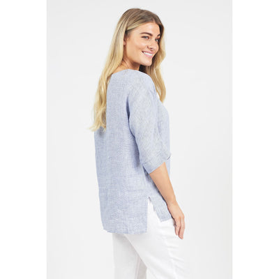 Naturals by O & J Houndstooth Top