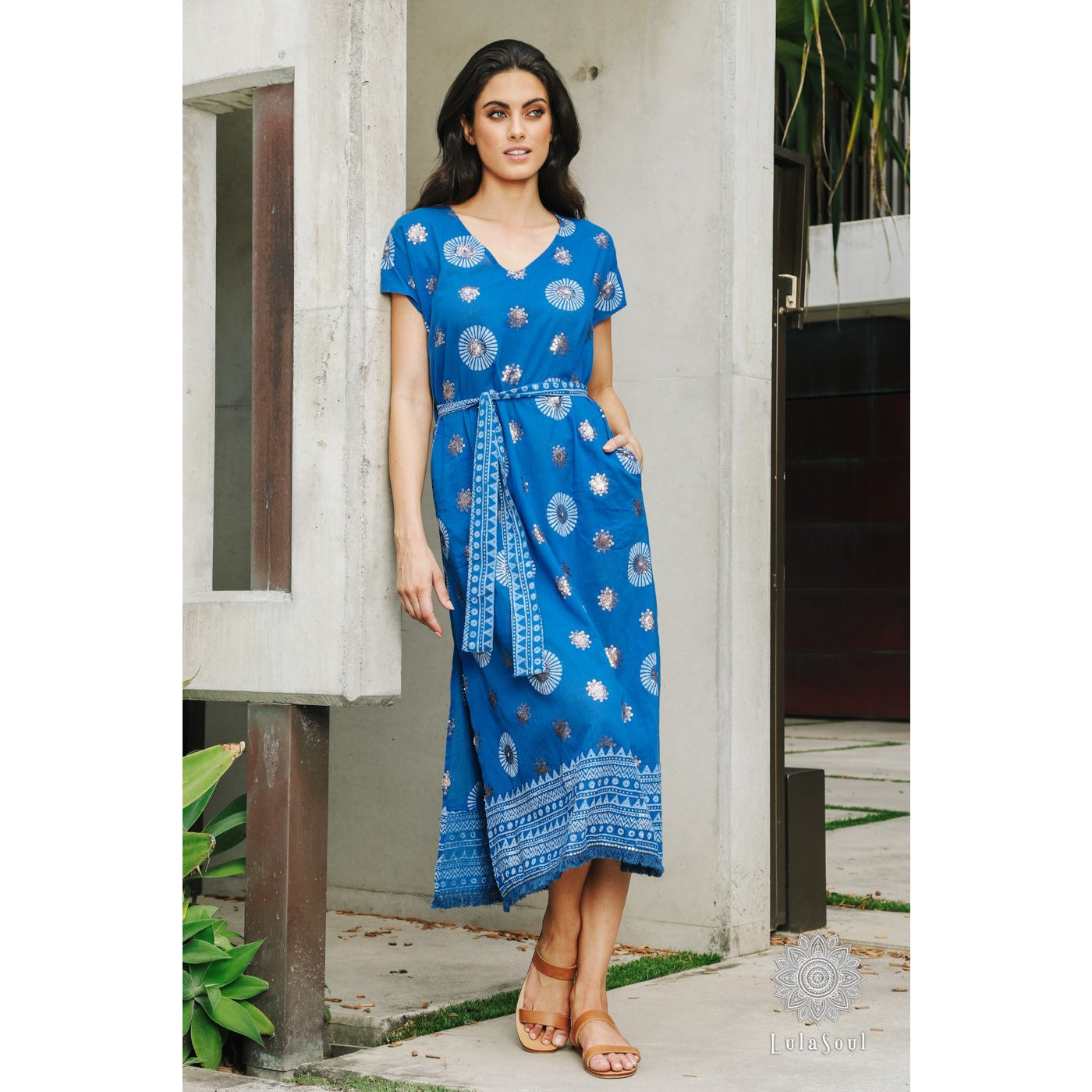 Lula Soul Lydia Midi Dress in Ocean