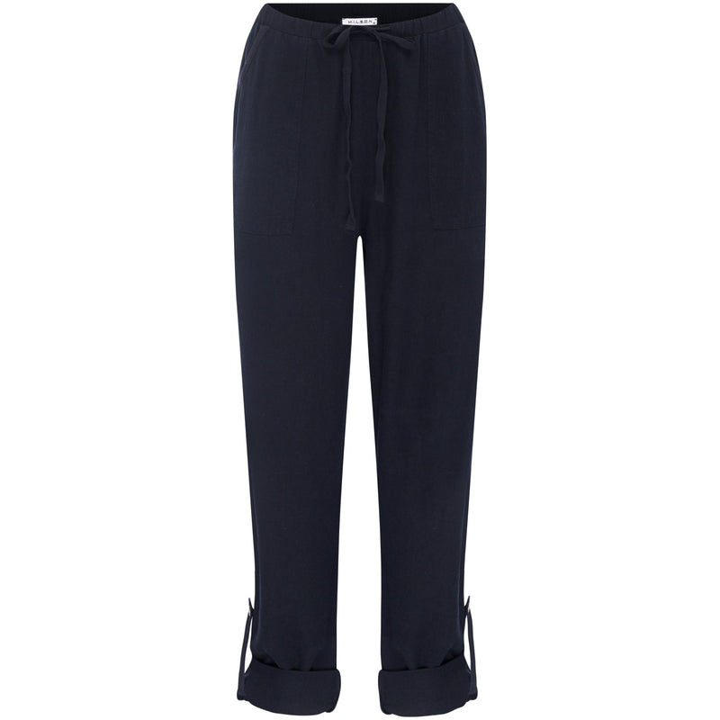 M.I.L.S.O.N Stella Linen Pant in Navy