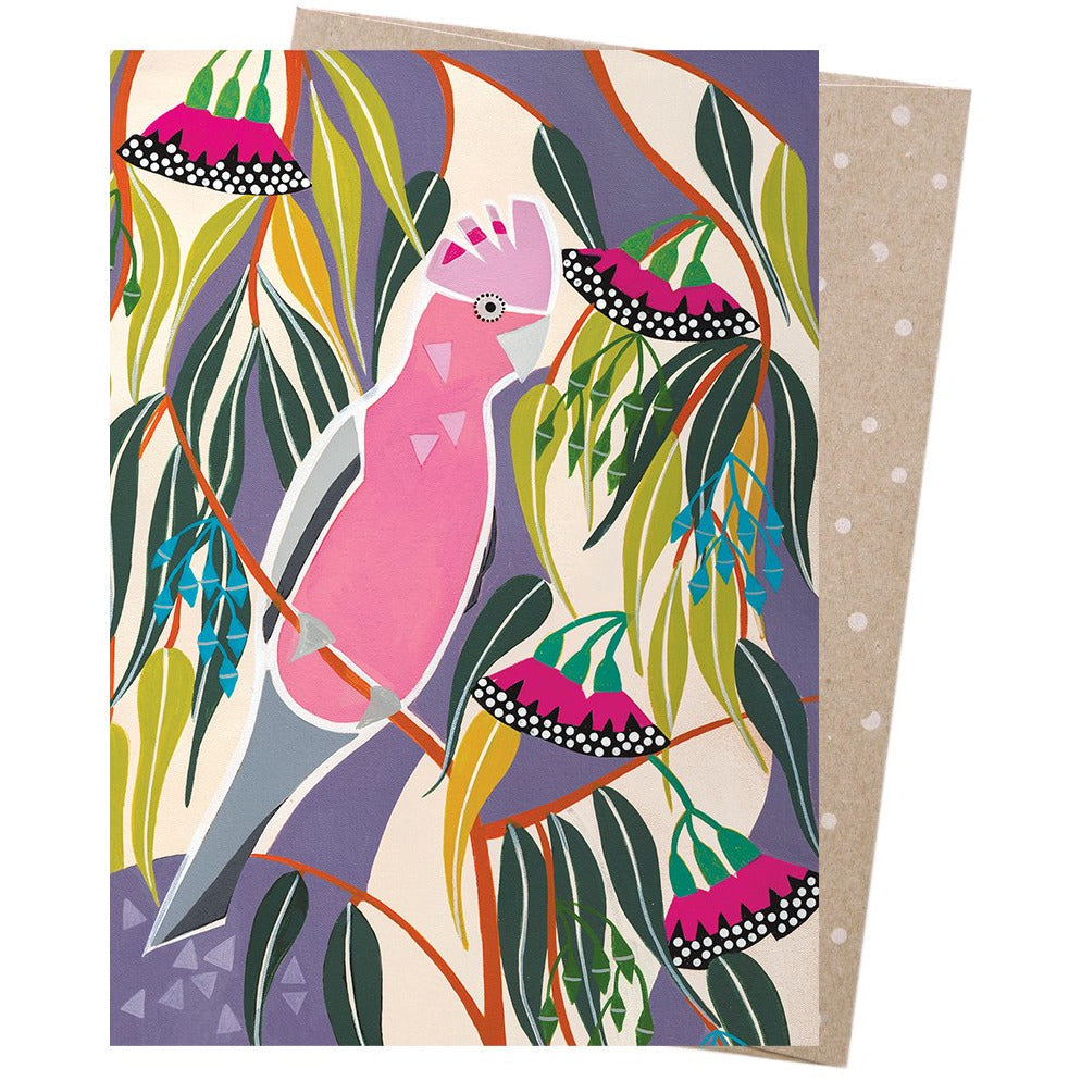 Earth Greetings Card Rosea Gum Galah