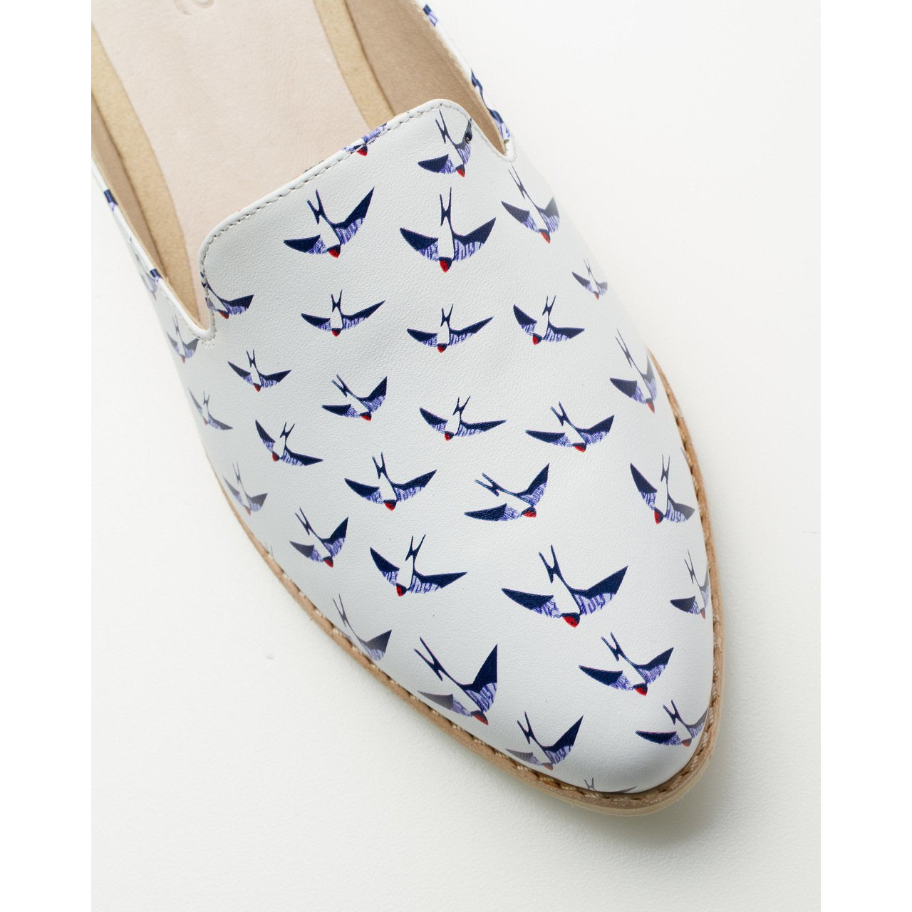 Rollie Mule in Swallow print